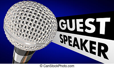 Guest Speaker Microphone Words Animation Introduction