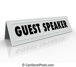 Guest Speaker Name Tent Card Presentation Panel Discussion -...