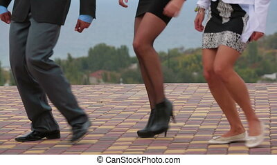 Guests Stepping At Wedding