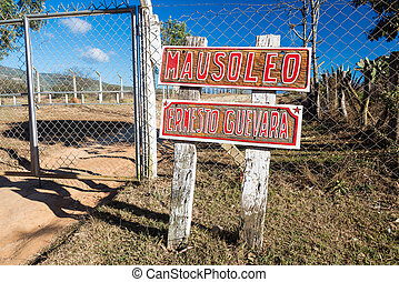guevara, mausoleo, entrada, che
