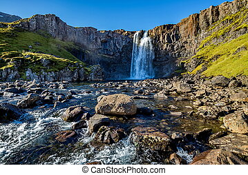 Gufufoss waterfall in Iceland