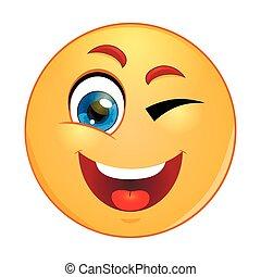 guiñar, emoticon