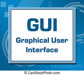 GUI Technical Blue Background