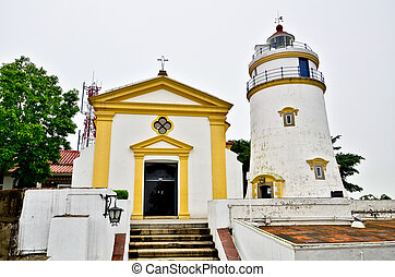Guia Fortress lighthouse in Macau - Guia Fortress lighthouse...