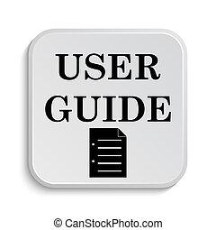 guia, usuário, ícone