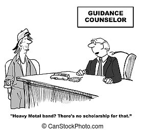 Guidance Counselor - Education cartoon about a guidance...