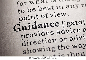 guidance - Fake Dictionary, Dictionary definition of the...