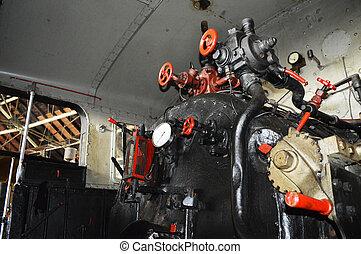 guidance system of steam locomotive