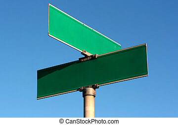Guide sign - Pure guide sign of crossing of streets against...