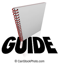 Guide Spiral Book Word Instructions Manual Directions