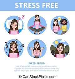 guide., stress, affare, ridurre, come, depressione