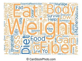 guide, till, hälsosam, viktförlust, ord, moln, begrepp, text, bakgrund