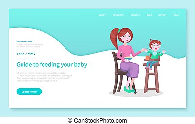 Guide to Feed Your Baby, Mom and Son Website Page - ...