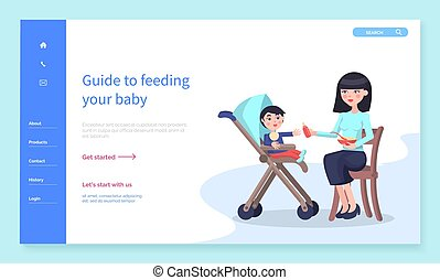 Guide to Feeding Your Baby, Mother Care About Son