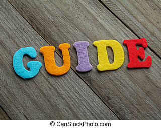 guide word on wooden background