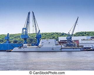 guided-missile, jagare, krigsfartyg