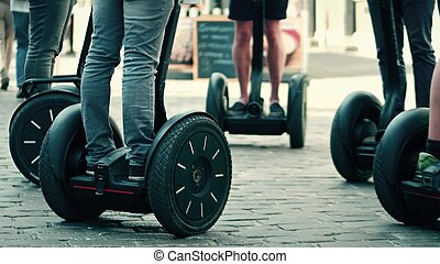 Guided segway tour in a tourist place - Guided segway tour...