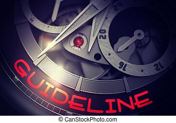 Guideline on Elegant Wristwatch Mechanism. 3D. - Guideline...