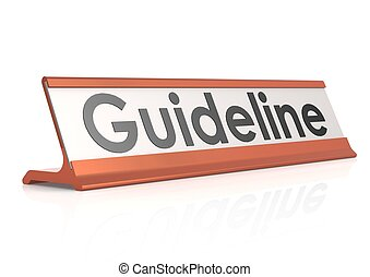 Guideline table tag - Rendered artwork with white background