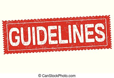 Guidelines grunge rubber stamp