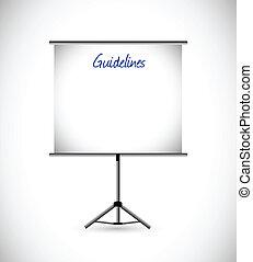 guidelines presentation illustration design over a white background