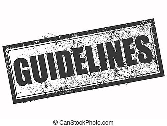 guidelines grunge stamp with on vector illustration