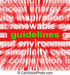 Guidelines Word Means Instructions Protocols And Ground...