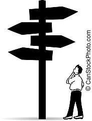 Guidepost, choose right way