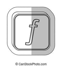 guilder currency symbol icon image, vector illustration