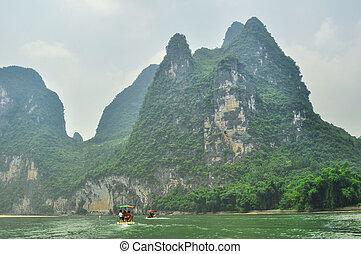 Guilin Park and Karst rocks Yangshuo China.