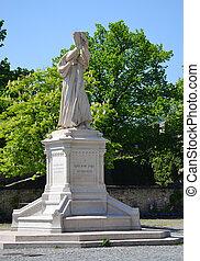 Guillaume Farel statue in the Collegiate Church of Neuchatel in Switzerland.