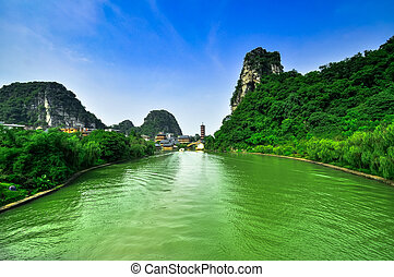 Guillin China Seven Star Park and Karst rocks Yangshuo -...