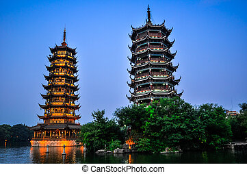 Guillin China Seven Star Park and Karst rocks Yangshuo - ...