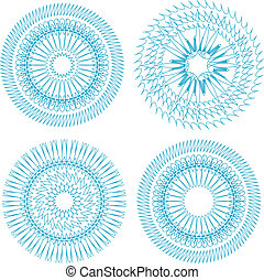 guilloche abstract pattern currency