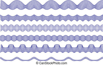 guilloche borders, vector pattern - background for currency,...