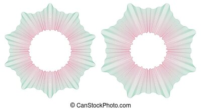 Guilloche circular pattern rosette. Vector illustration.