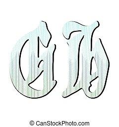 guilloche, lettere, fondo, certificato