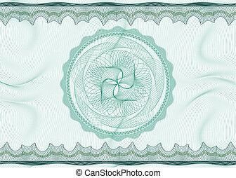 Guilloche pattern with rosette - Classic guilloche pattern...