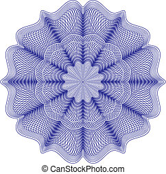 guilloche rosette, vector pattern - background for currency...