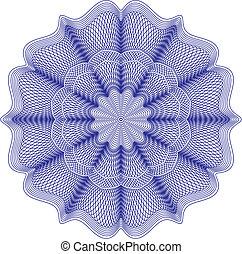guilloche rosette, vector pattern