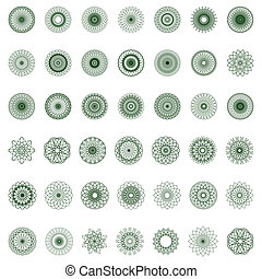 guilloche rosette, vector pattern for currency, certificate ...
