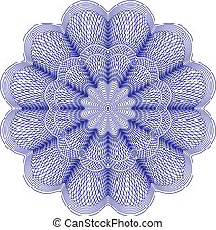 guilloche rosette - vector pattern for currency, certificate...