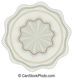 Guilloche Vector Pattern Rosette