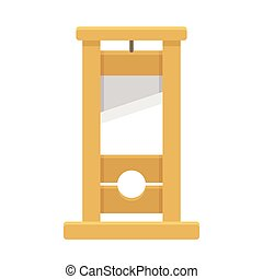 Guillotine cartoon illustration