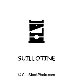 Guillotine flat vector icon. Hand drawn style design ...