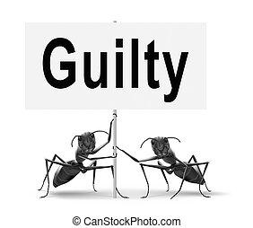 guilty as charged - Guilty as charged, guilt and convicted...