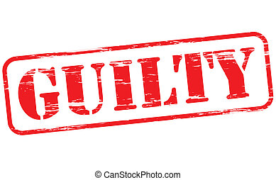 Guilty - Rubber stamp with word guilty inside, vector...
