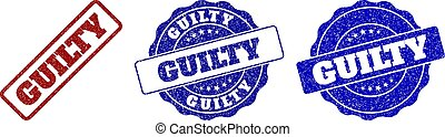GUILTY Scratched Stamp Seals