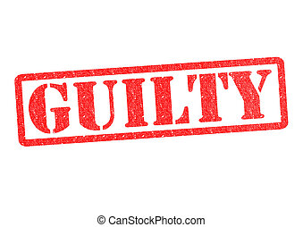 GUILTY rubber stamp over a white background.