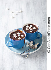 guimauves, mini, chocolat chaud